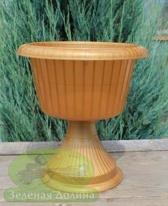 Цветочный вазон на ноге «Газон 31 см»