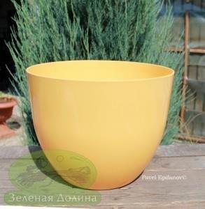 Большое кашпо для цветов «Орхидея» жёлтое