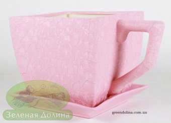 Вазон «Чашка Шёлк» розовая