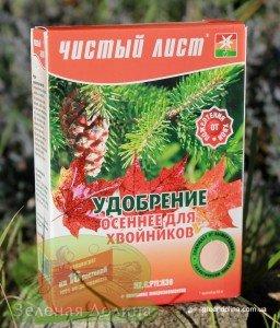 Осеннее удобрение для хвойников «Чистый лист»