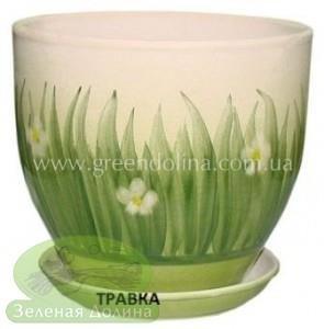 Горшок для цветов «Кедр» - модель «Зелёная травка»