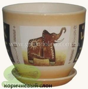 Горшок для цветов «Кедр» - модель «Коричневый слон»
