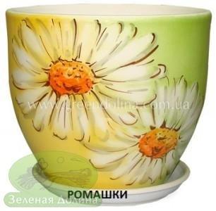 Горшок для цветов «Кедр» - модель «Ромашки»