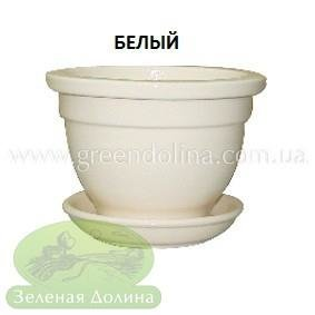 Горшочек для фиалки - белого цвета