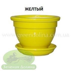 Горшочек для фиалки - желтого цвета