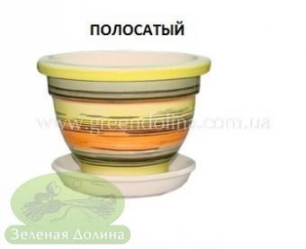 Горшочек для фиалки - полосатого цвета