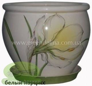 Горшок для цветов «Вьетнам» - модель «Белый нарцисс»