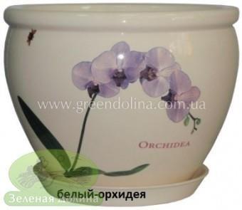 Горшок для цветов «Вьетнам» - модель «Белая орхидея»