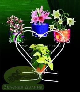 Подставка для цветов Сердце